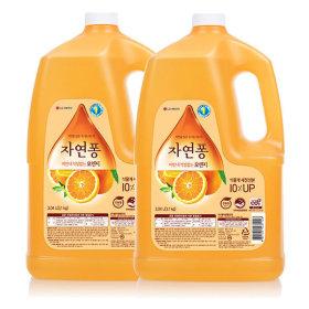 자연퐁 주방세제 오렌지 3.1kg 2개 +지퍼백증정