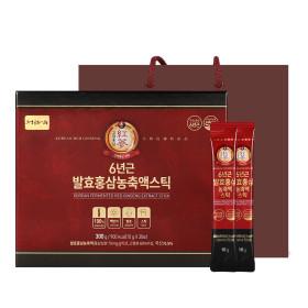 6년근 발효홍삼 농축액스틱  1박스 10g x30포 홍삼스틱