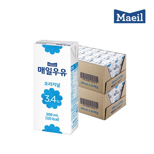 (현대Hmall) 매일유업  매일멸균 오리지널 200ML 48팩 상품이미지