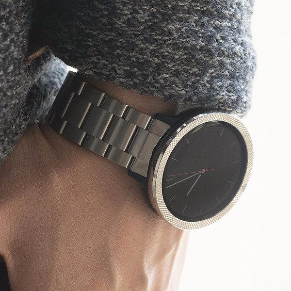갤럭시액티브2 워치 시계줄 링케 메탈 밴드  블랙 상품이미지