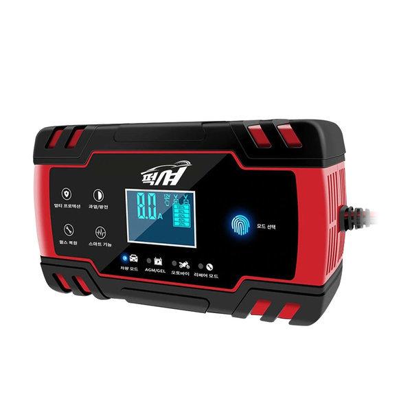 FOXSUR 퍽셔 자동차배터리 충전기 한글화 RED2 12+24V 상품이미지