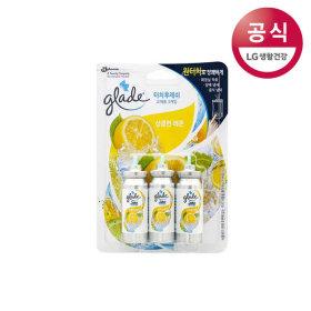 그레이드 터치앤후레쉬화장실방향제상큼한레몬리필3개