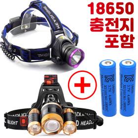 충전식 LED  헤드 랜턴 렌턴 해루질 해드 램프 낚시