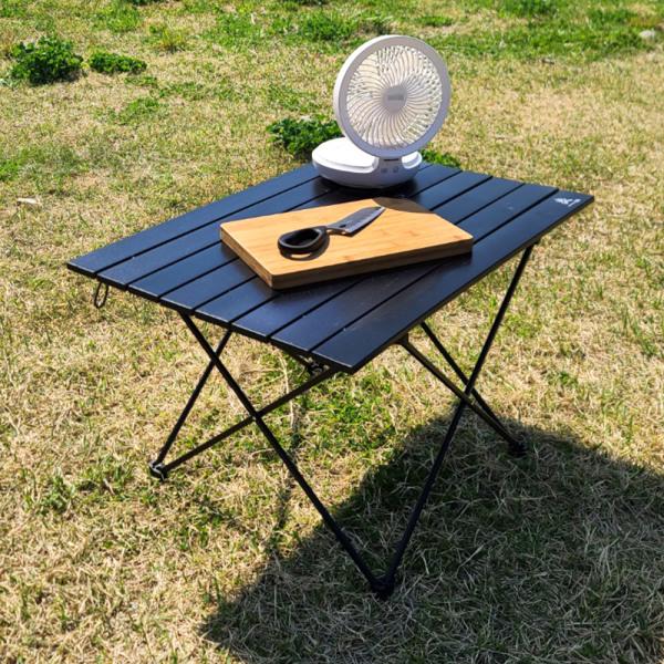 알루미늄 캠핑 롤 테이블 접이식 사이드 초경량 블랙S 상품이미지
