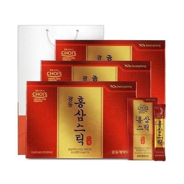 광동  홍삼스틱(10mlx30포) 3박스/선물쇼핑백 상품이미지