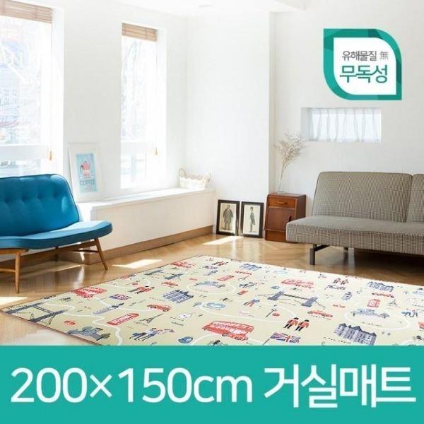 층간소음방지 양면사용 거실 놀이방매트 200x150 상품이미지
