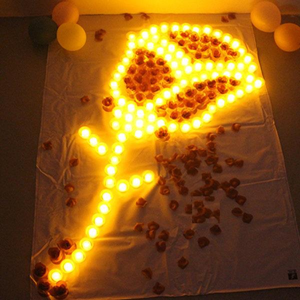 전자촛불24개 양초 티라이트 청혼 생일 이벤트 고백 상품이미지