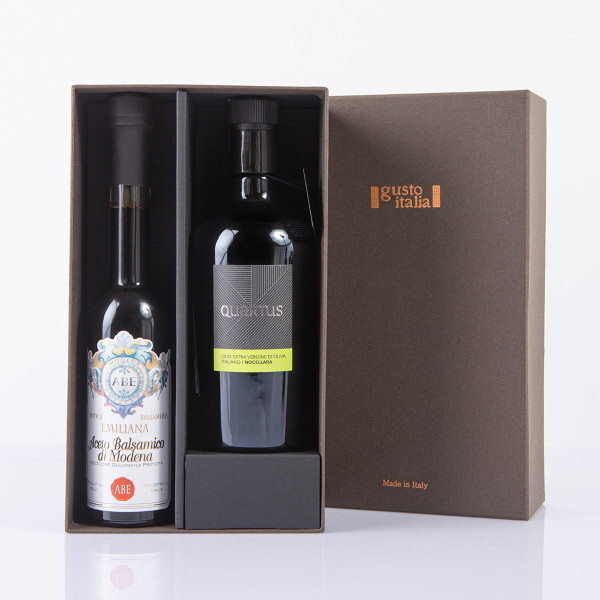 가우스  선물세트 쿠아르투스 노첼라라 올리브오일+에밀리아나 비앙카 발사믹식초 상품이미지