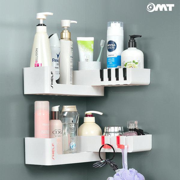 OMT 흡착 욕실선반 후크디자인 수납 욕실용품 OSO-T6 상품이미지