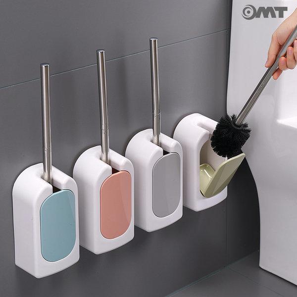 OMT 벽걸이 화장실 변기청소솔 보관함 세트 OSO-T16 상품이미지