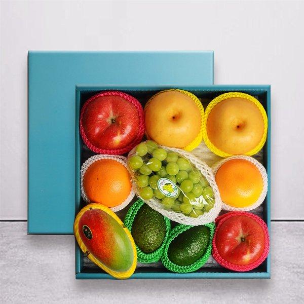 명작과일선물세트  사과2과+배2과+오렌지2+아보카도2과+망고1과+샤인머스켓1송이 상품이미지