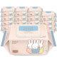슈퍼대디x미피 저자극소프트 물티슈캡형100매10팩(50g)