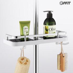 OMT 일자형 욕실 사워봉 수납 선반 OSO-T13 화이트