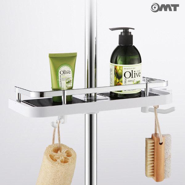 OMT 일자형 욕실 사워봉 수납 선반 OSO-T13 화이트 상품이미지