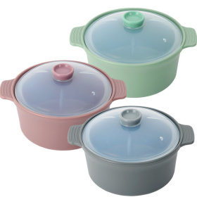 Made in Korea Silicone Pot Microwave Container Egg Steamer Medium(800ml)