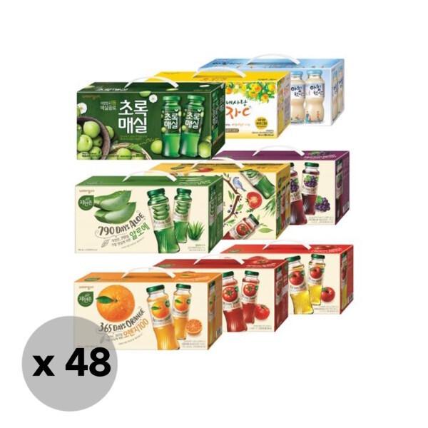 웅진식품  자연은 쥬스병 선물세트 180mlx12입x4케이스 1종선택 (알로에/토마토/오 상품이미지