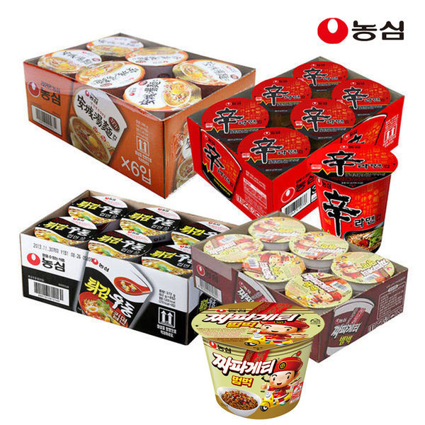 신라면+안성탕면+튀김우동+짜파게티컵(총24개) 상품이미지