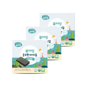 오가닉 순수한 아이김 김엔천일염 (2g x 10개입) 3+1팩