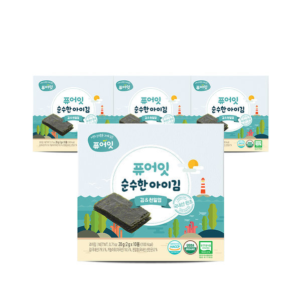 오가닉 순수한 아이김 김엔천일염 (2g x 10개입) 3+1팩 상품이미지