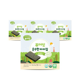 오가닉 순수한 아이김 김100% (1.5g x 10개입) 3+1팩