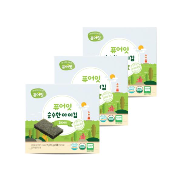 오가닉 순수한 아이김 김100% (1.5g x 10개입) 3+1팩 상품이미지