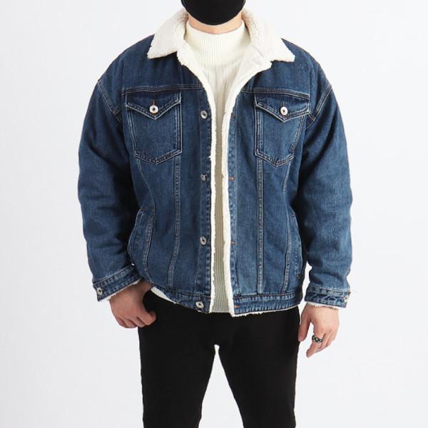 WBS 남자 빅사이즈 양털 데님자켓 청자켓/ 우기브로 상품이미지