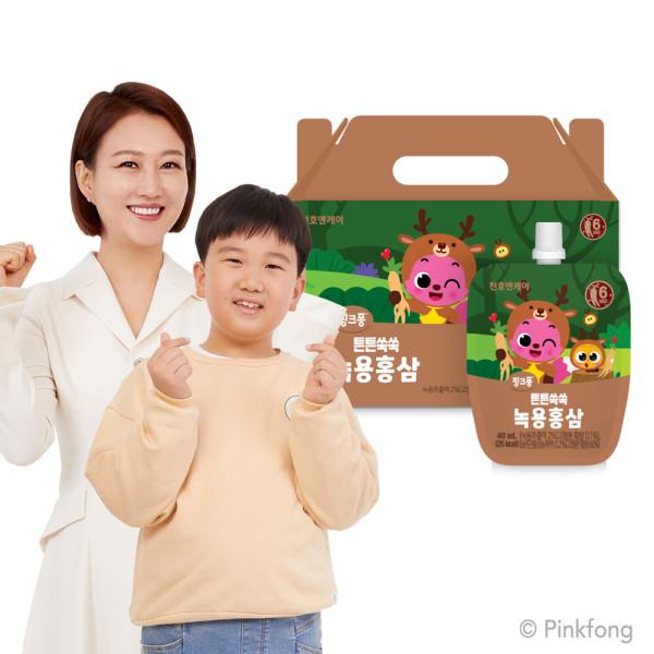 어린이 튼튼쑥쑥 녹용홍삼 40ml 30팩 1박스 상품이미지