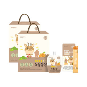 어린이 녹용홍삼 40ml 30팩 2박스+4팩