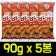 매콤달콤 바게트 90gx5봉 과자/스낵/간식/안주/새우깡