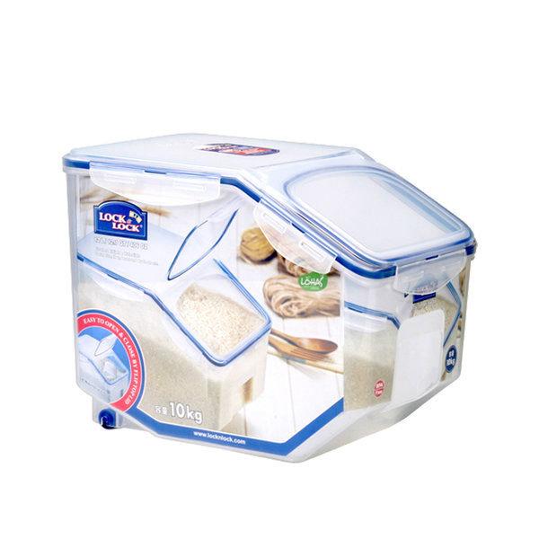 쌀통 잡곡통 10kg 12L+계량컵 보관용기 밀폐용기 바퀴 상품이미지