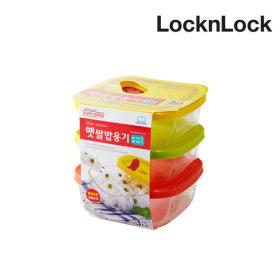 햇쌀밥용기 오븐글라스 320ml 1팩 (총 3개) 밀폐용기