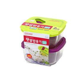 햇쌀밥용기 오븐글라스 410ml 1팩 (총 2개) 밀폐용기
