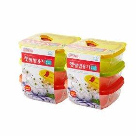 햇쌀밥용기 오븐글라스 320ml 2팩 (총 6개) 밀폐용기