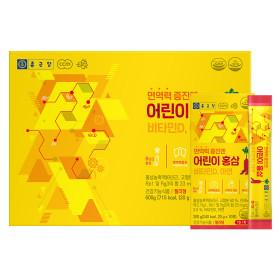 종근당 6년근 어린이 홍삼스틱 젤리 (10포X3EA) 1세트