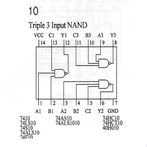 74HC10 TTLIC7410  IC7410기능사실습부속학교실습 상품이미지
