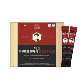 고철남홍삼 6년근 하루한포 전체식 홍삼스틱365 30포