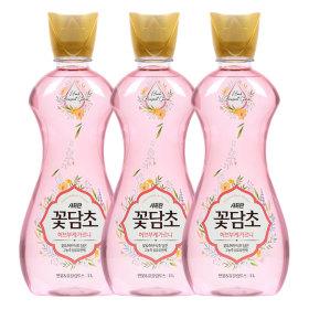 꽃담초 섬유유연제 화이트 1.6Lx3+1L
