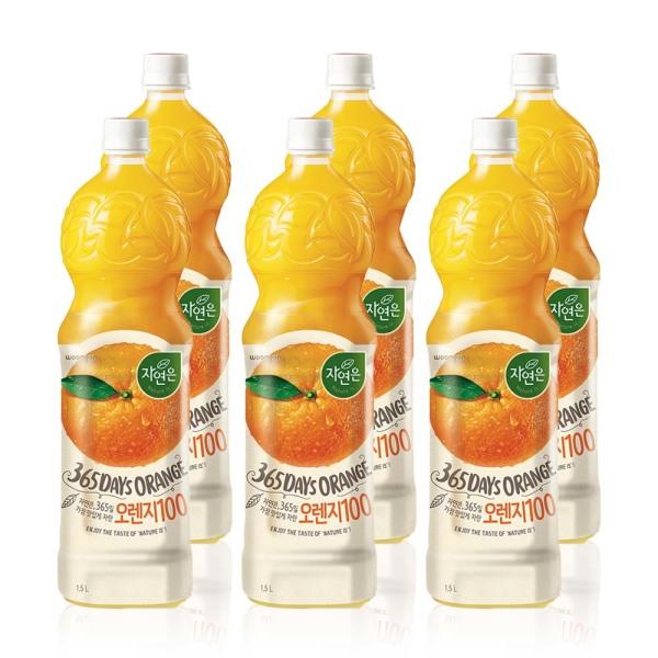 자연은 오렌지100 1.5LX12PET/과즙주스/과일주스/감귤 상품이미지