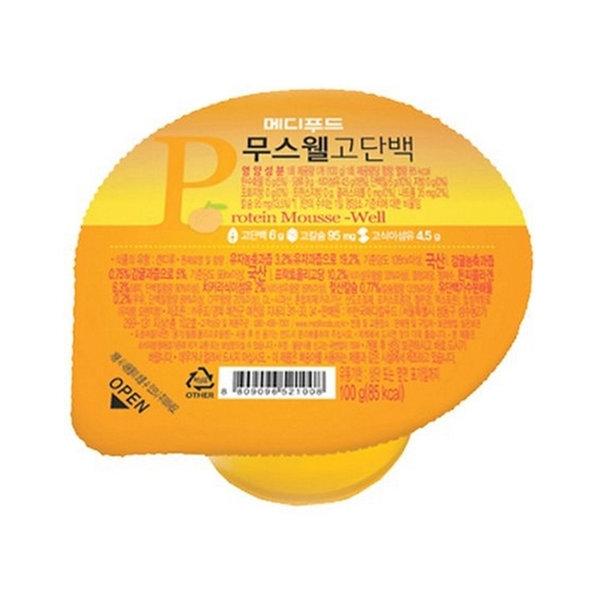 메디푸드 고단백 무스웰 유자맛(100gx50개)단백질젤리 상품이미지