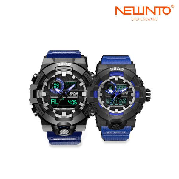 SBAO 캐쥬얼손목전자시계 수영방수 커플시계 블루 상품이미지