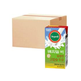 베지밀B 달콤한 고칼슘두유 190ml 16팩 x3박스
