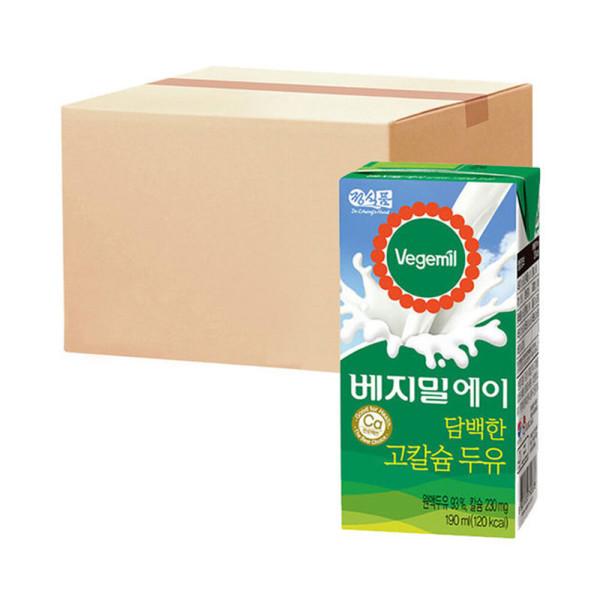 베지밀A 담백한 고칼슘두유 190ml 16팩 x4박스 상품이미지