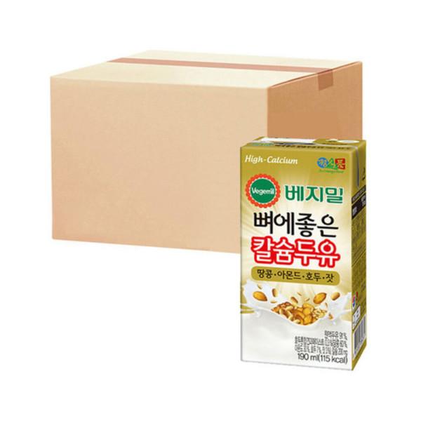 베지밀 뼈에좋은 칼슘 아몬드호두잣 190ml 16팩x4박스 상품이미지