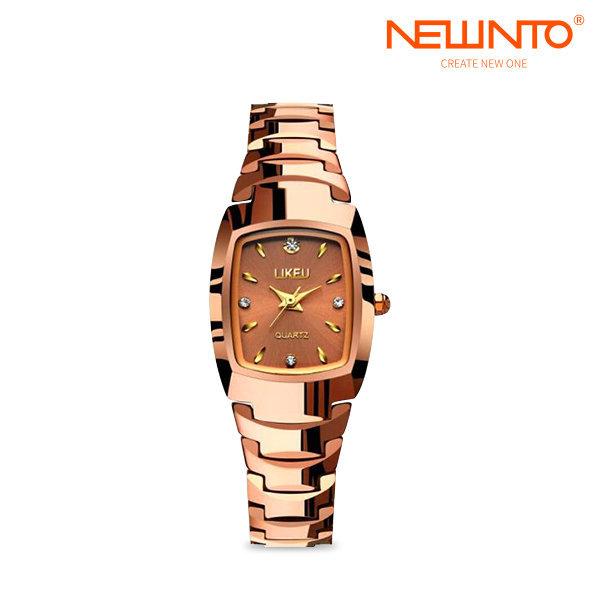 LIKEU 여성용쿼츠와치 메탈 손목시계 로즈골드 상품이미지