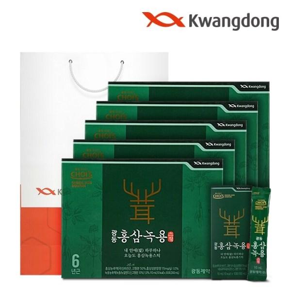 광동 홍삼녹용스틱 (10ml x 30포) - 5박스 상품이미지
