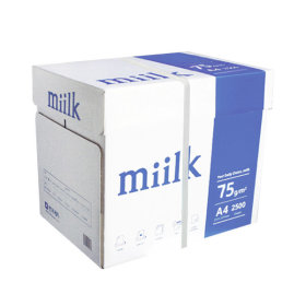 밀크 A4 복사용지(A4용지) 75g 2500매 1BOX