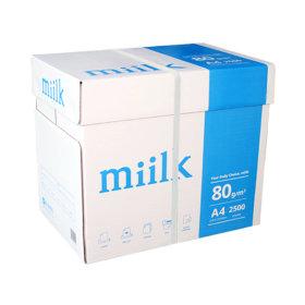 밀크 A4 복사용지(A4용지) 80g 2500매 1BOX