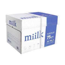 밀크 A4 복사용지(A4용지) 75g 2000매 1BOX