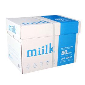 밀크 A4 복사용지(A4용지) 80g 2000매 1BOX