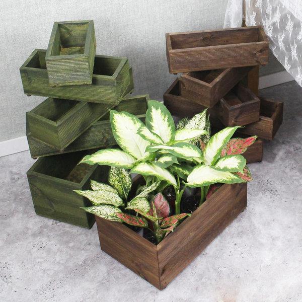나무 화분 베란다 플랜트 옥상 텃밭 박스 상자 방부목 상품이미지
